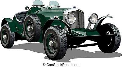 Cartoon vintage car. Available eps-10 vector format...