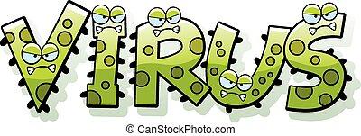 Cartoon Virus Text