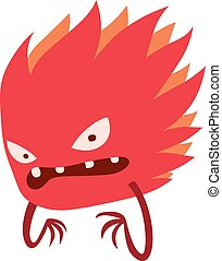 Cartoon viruses characters vector set. - Cartoon viruses...