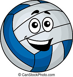 Cartoon volleyball ball