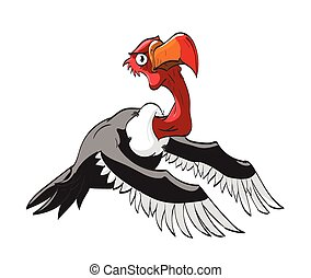 Cartoon Vulture illustration - Colorful vector illustration...