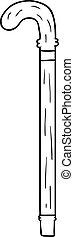 cartoon walking stick