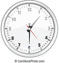 Cartoon Wall Vector Clock