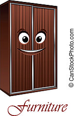 Cartoon wardrobe character