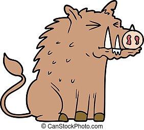 cartoon warthog