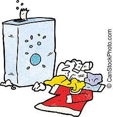 cartoon washing powder and laundry