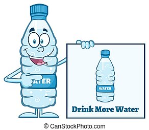Cartoon Water Plastic Bottle - Water Plastic Bottle Cartoon...