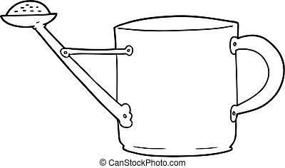 cartoon watering can