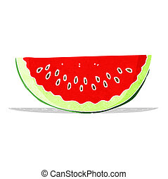 cartoon watermelon slice