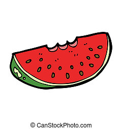 cartoon watermelon slice