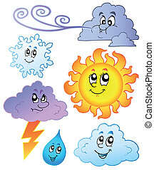 Cartoon weather images - vector illustration.