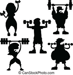Cartoon Weight Workout