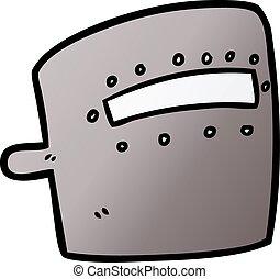 cartoon welding mask