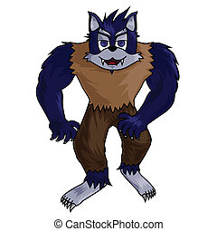 cartoon werewolf clip-art