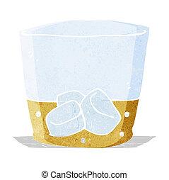 cartoon whiskey in glass