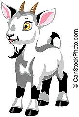 cartoon white goat
