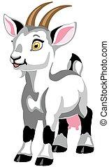 cartoon white goat female