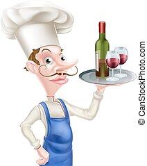 Cartoon Wine Chef