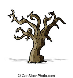 cartoon winter tree
