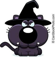 Cartoon Witch Cat Angry