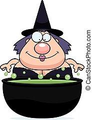 Cartoon Witch Cauldron