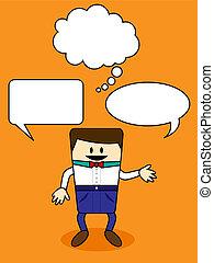 Cartoon with speech bubble