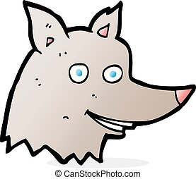 cartoon wolf head