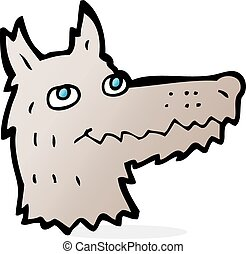 cartoon wolf head