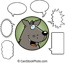 Cartoon Wolf Talking