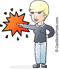 cartoon woman accusing