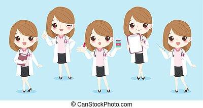 cartoon woman doctor