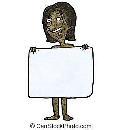 cartoon woman hiding behind towel