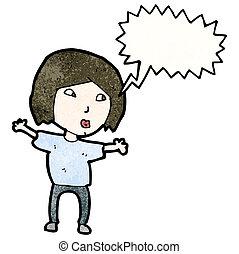 cartoon woman shouting