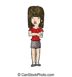 cartoon woman standing
