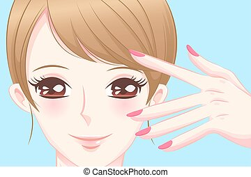 woman with nail beauty