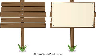 Cartoon Wood Board