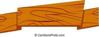 Cartoon Wood Ribbon
