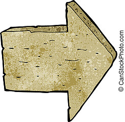 cartoon wooden arrow sign