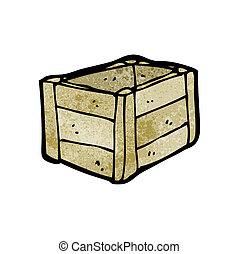 cartoon wooden crate