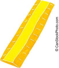 cartoon wooden ruler