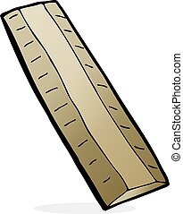 cartoon wooden ruler
