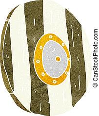 cartoon wooden shield