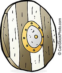cartoon wooden shield