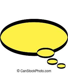 Cartoon Word Thought Balloon