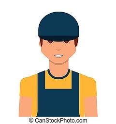 cartoon worker man