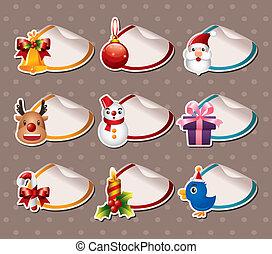 Cartoon Xmas Label Stickers