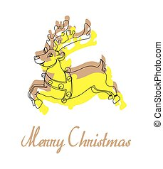 Cartoon Xmas Rudolph Reindeer