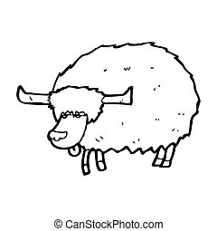 cartoon yak