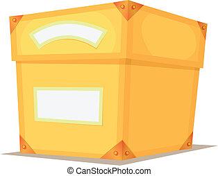 Cartoon Yellow Box