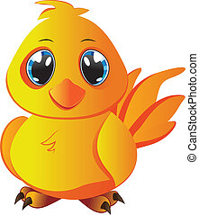 Cartoon Yellow Chicken - Cute cartoon yellow chicken with...